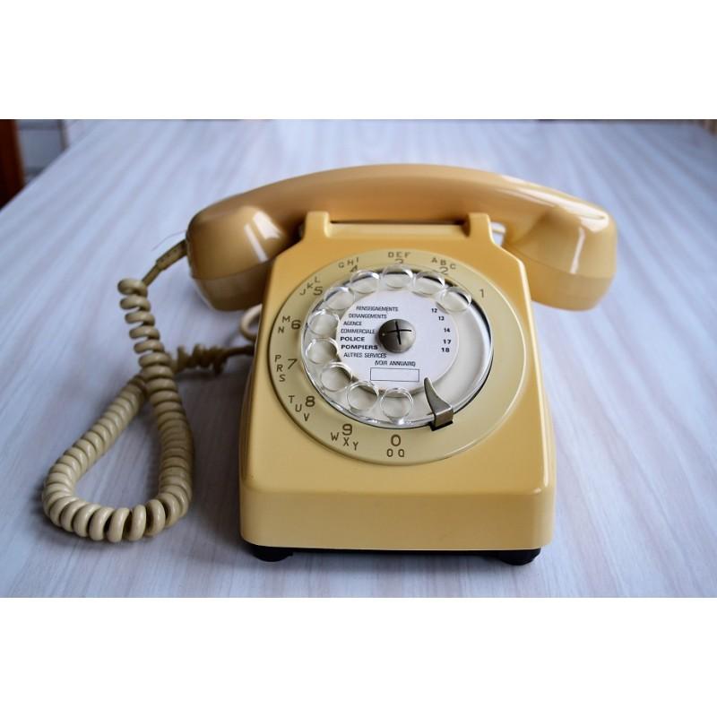 t l phone vintage socotel s63 cadran 1977 france. Black Bedroom Furniture Sets. Home Design Ideas
