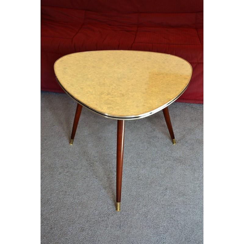 table formica tripode compas vintage 1960s. Black Bedroom Furniture Sets. Home Design Ideas
