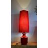 Lampe de sol céramique rouge - vintage 1960s