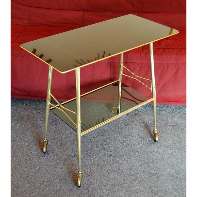Table desserte en formica à roulettes - vintage des années 50 60