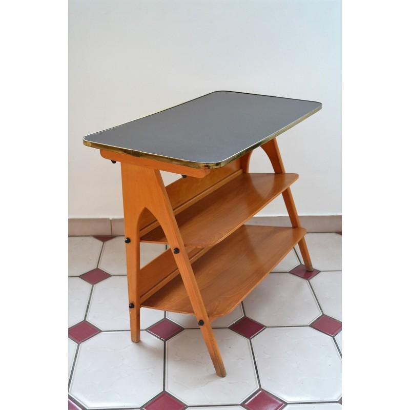 Table d'appoint porte revues vintage 1960s