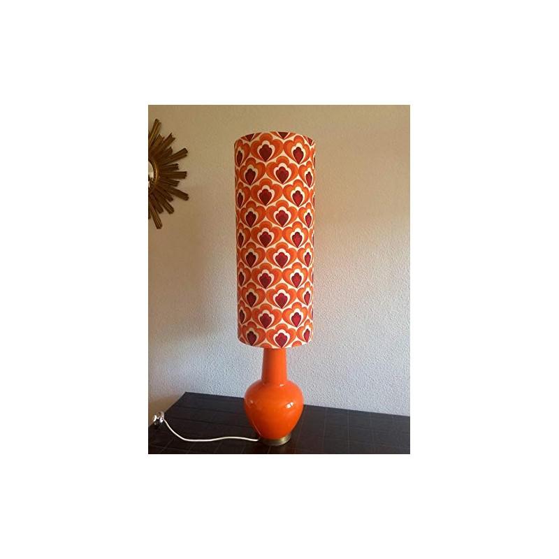 Lampe de sol orange Camélia - vintage 70's