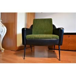 fauteuil-vintage-skai-vert-années-70
