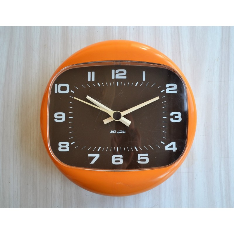 Horloge orange Jaz modèle Marsic 1970's