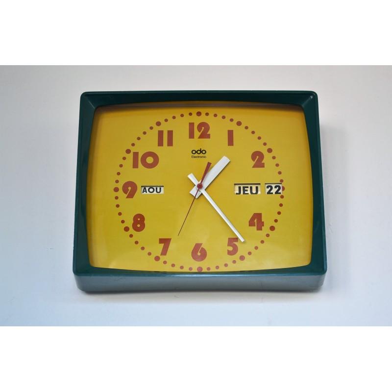 Horloge et dateur murale ODO 1970's