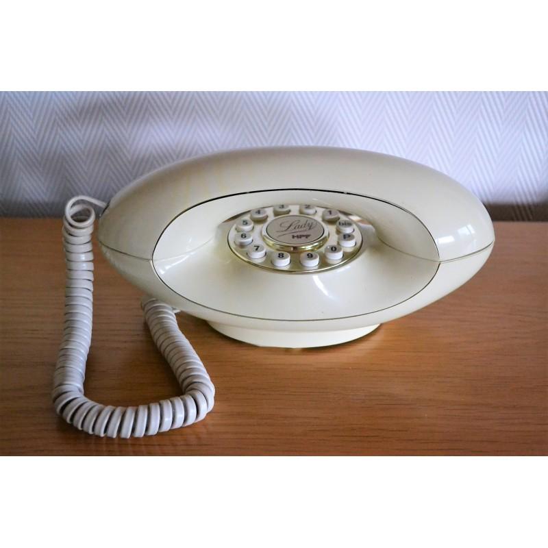 Téléphone futuriste Lady HPF - vintage 80s