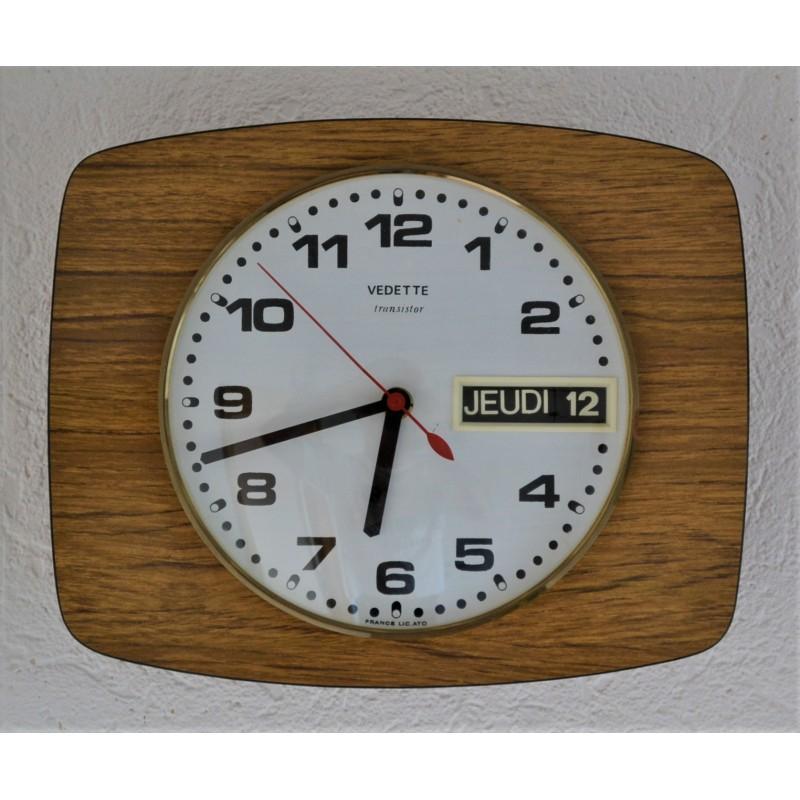 Horloge dateur murale VEDETTE vintage 1960s