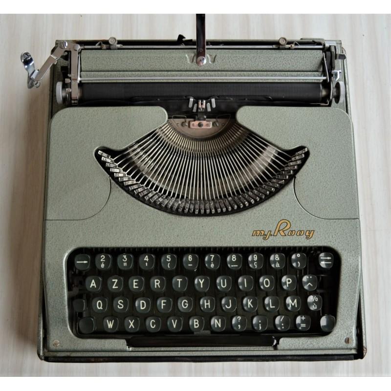 Machine à écrire mécanique, MJ ROOY, vintage 1950s