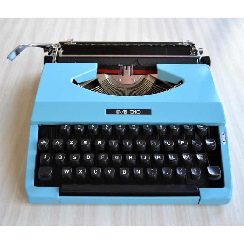 Machine à écrire mécanique BMB 310 bleue - vintage 70s