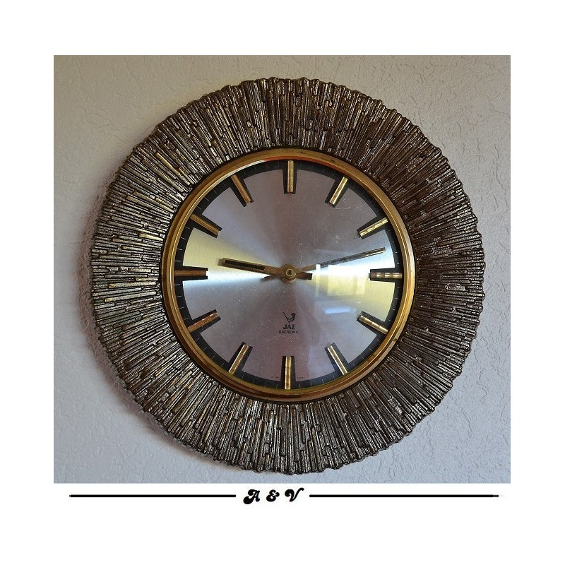 Horloge murale BAUXIC - JAZ électronic - licence ATO - vintage 1975