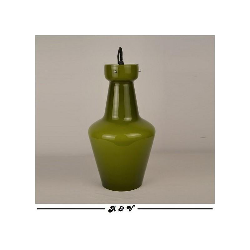 Suspension Targetti Sankey en opaline verte - vintage 60 70