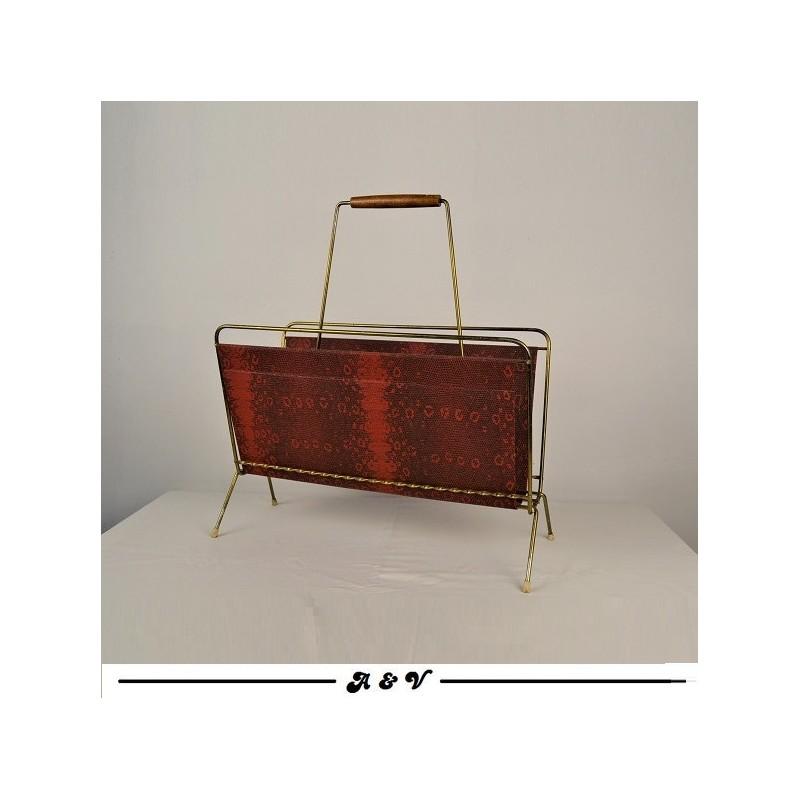 Porte revues skaï vintage 1960s