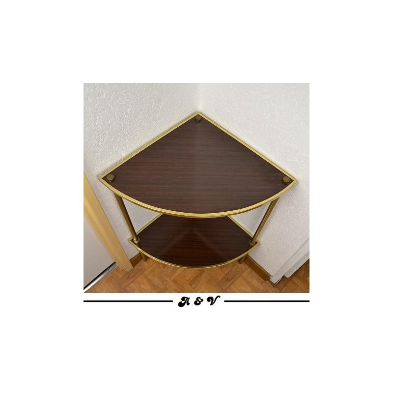 Guéridon formica d'angle vintage des années 70