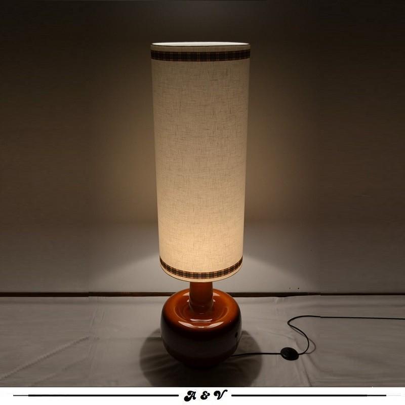 Lampe de sol céramique des années 60 70
