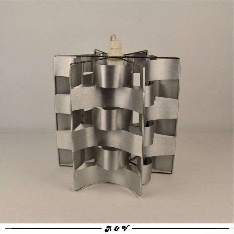 Suspension Vintage Aluminium de Max Sauze Années 70's