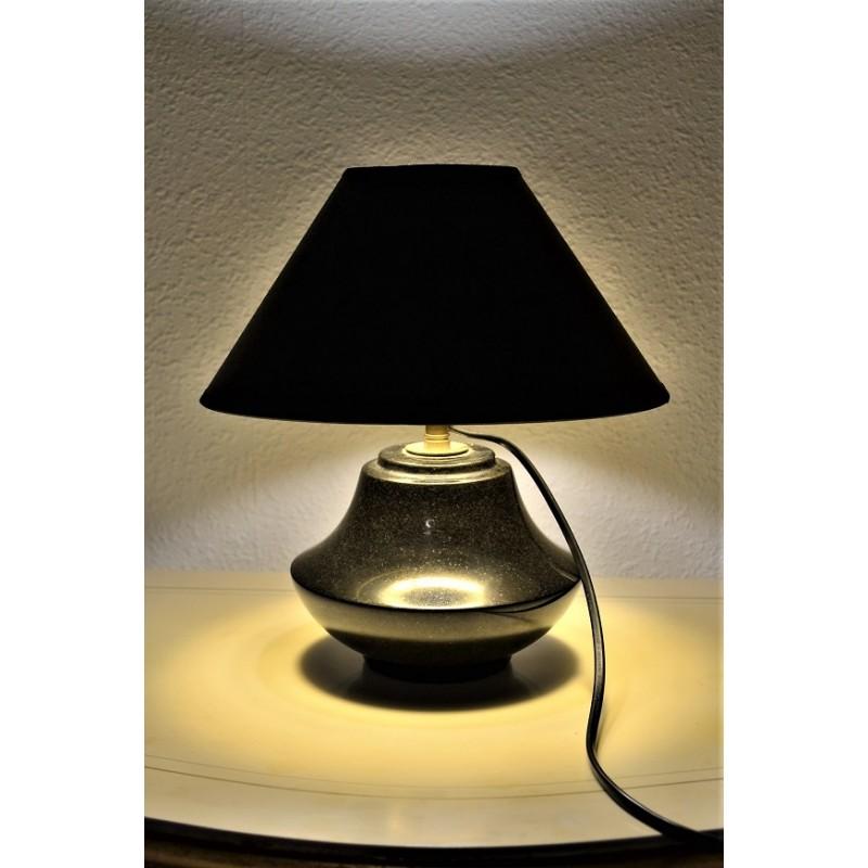 """Lampe à poser """"black marble"""" vintage 1960s"""