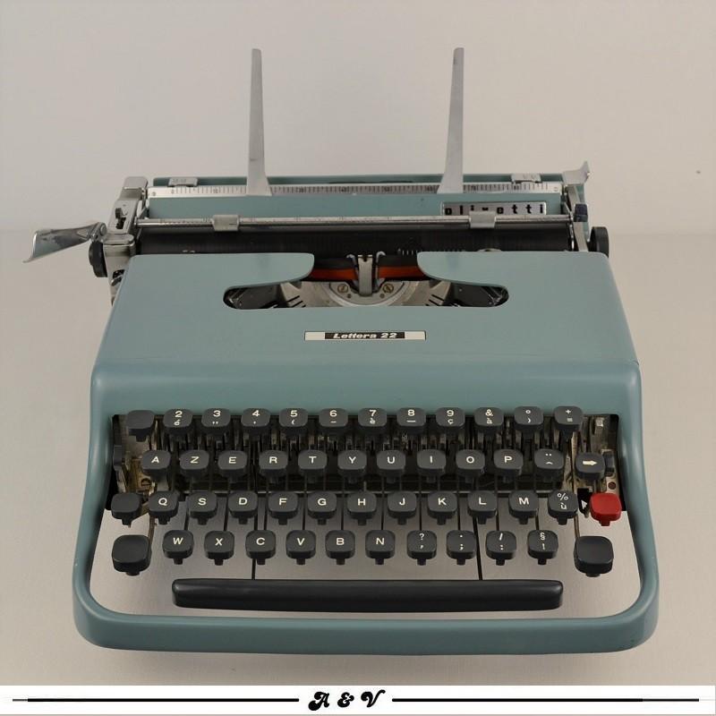 Machine à écrire OLIVETTI Lettera 22 - vintage 1950