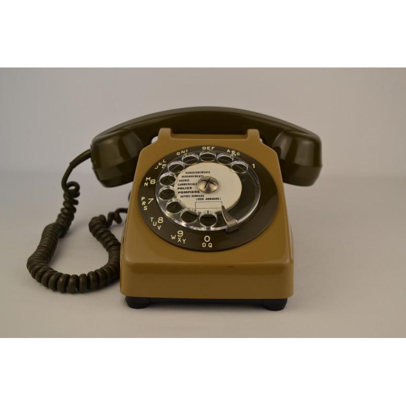 Téléphone PTT vintage Socotel S63 à cadran, 1980s