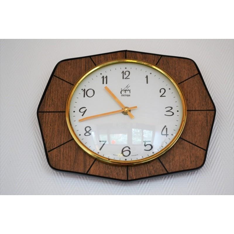Horloge Japy formica vintage 1960s