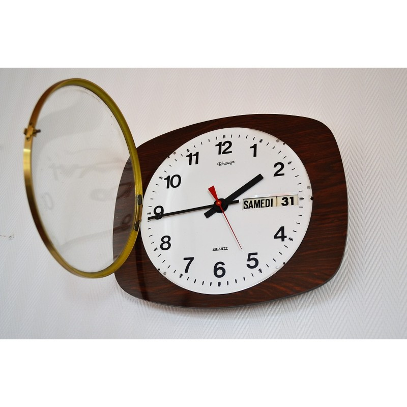 Horloge de cuisine formica vintage 1960s