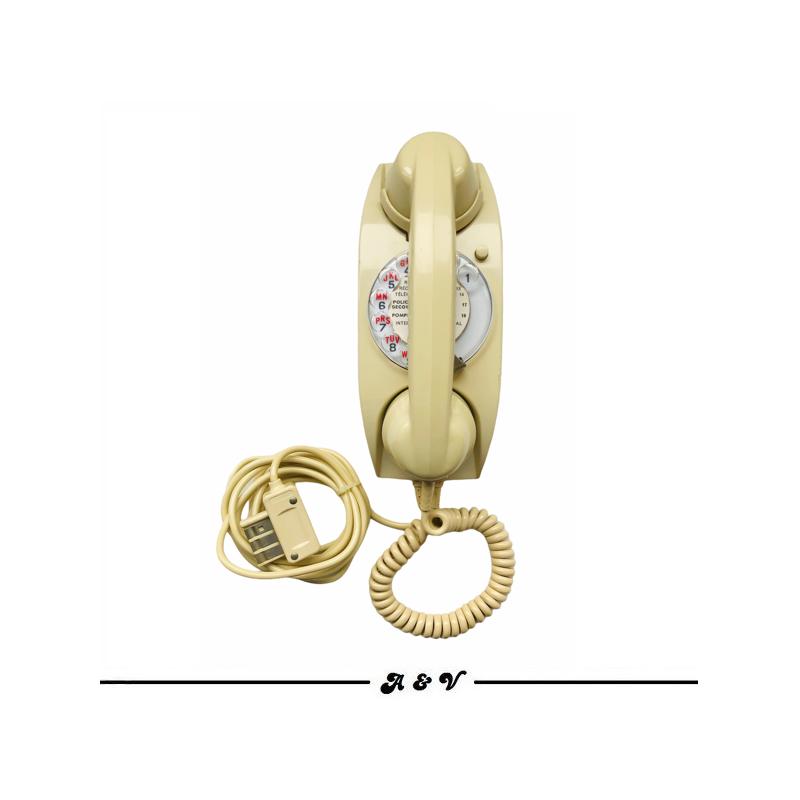 Téléphone CIT à cadran vintage 70s