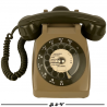 Téléphone PTT vintage Socotel S63 à cadran, 1983