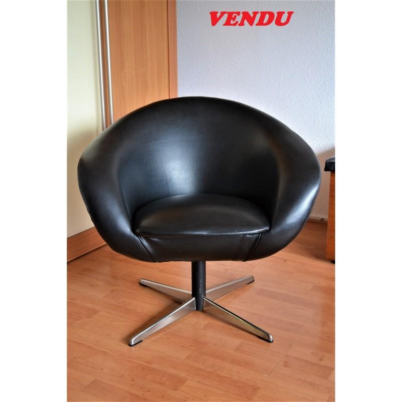 fauteuil pivotant des ann es 60 70. Black Bedroom Furniture Sets. Home Design Ideas