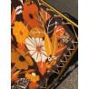 Lot de 2 bains de soleil transat Lafuma vintage à fleurs 1970
