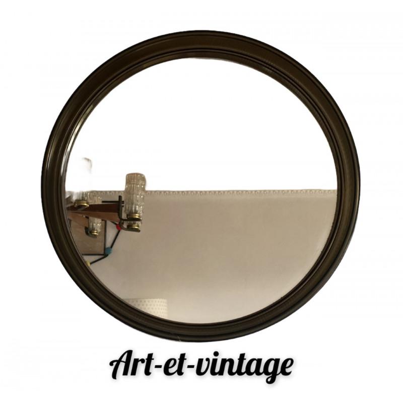 Miroir fumé rond des années 70 80