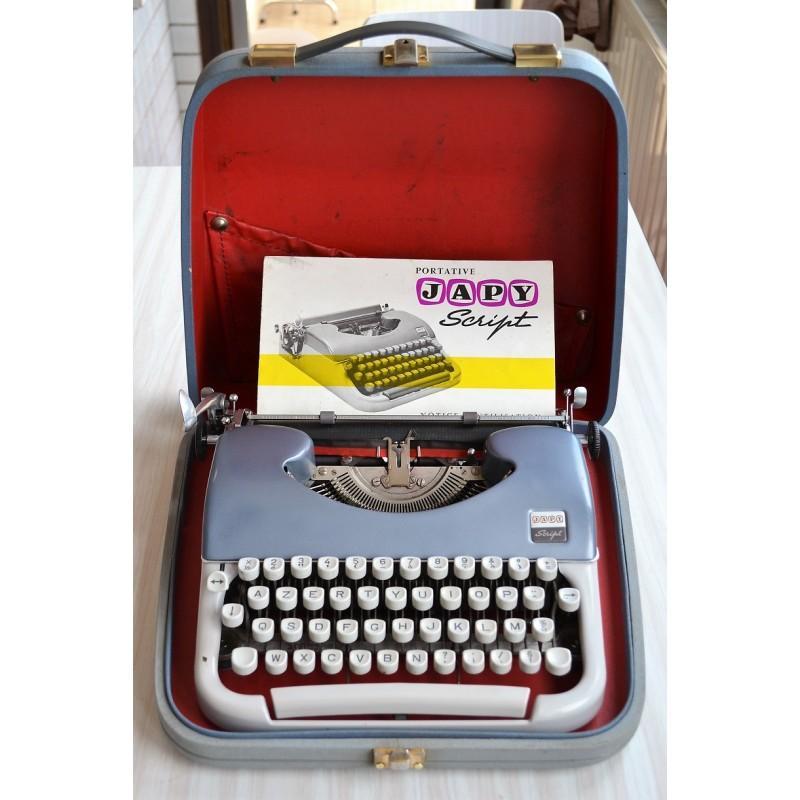 Machine à écrire Japy Script - vintage 1960s