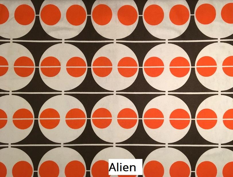 tissu vintage alien