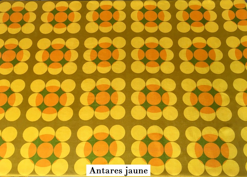 tissu vintage Antares jaune