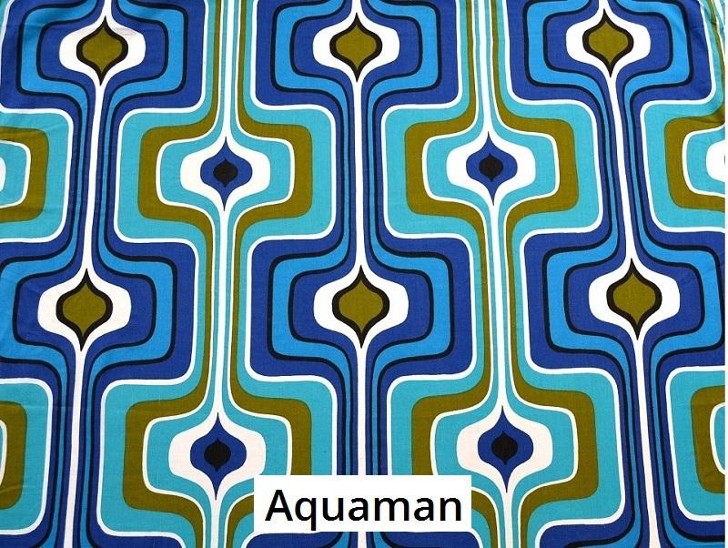 tissu vintage aquaman