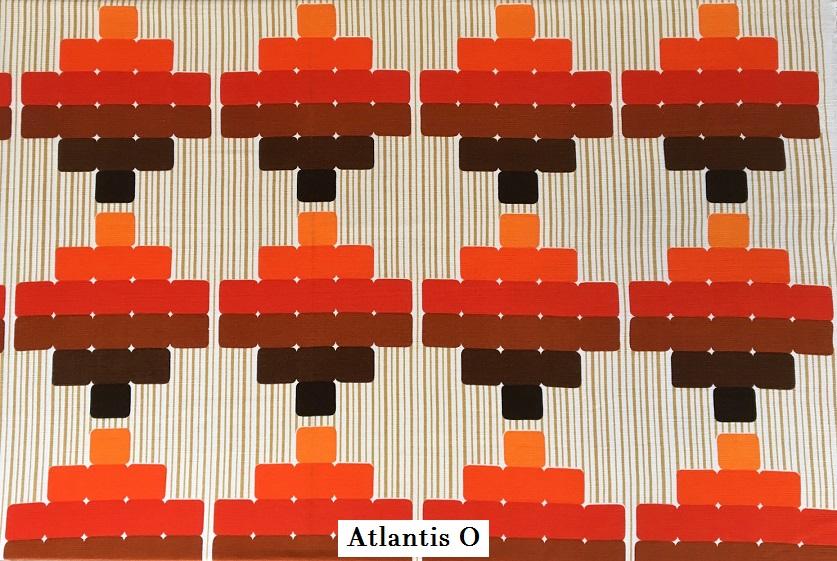 tissu vintage atlantis-o