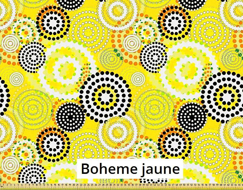 tissu vintage bohemejaune