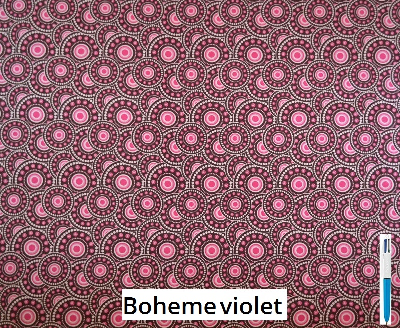 tissu vintage bohemeviolet