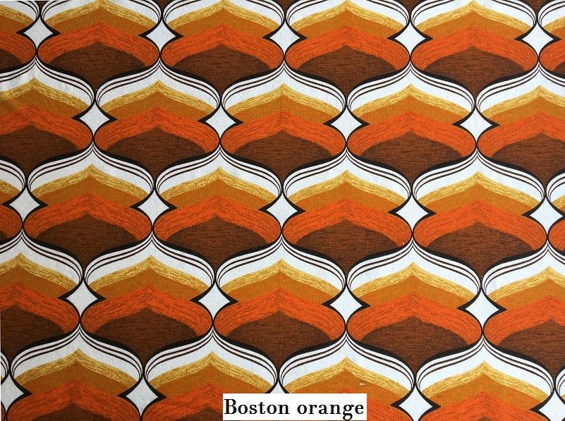 tissu vintage boston-orange