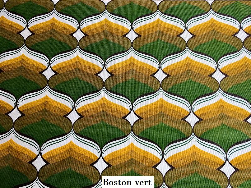 tissu vintage boston-vert