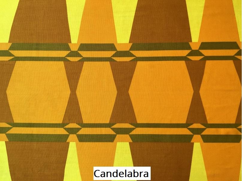 tissu vintage candelabra