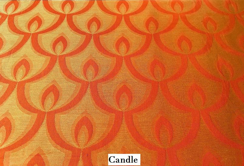 tissu vintage candle