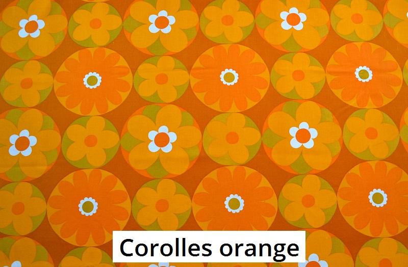 tissu vintage corolles