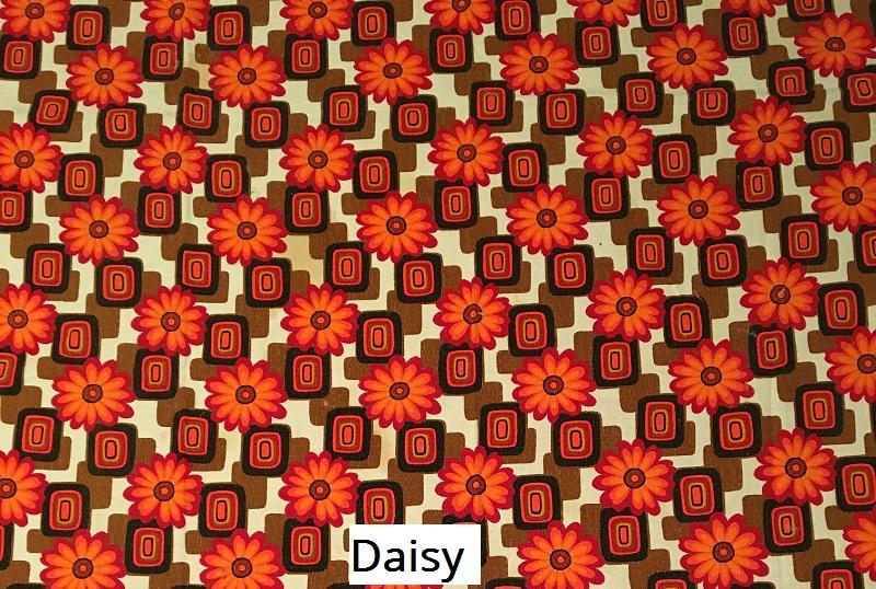 tissu vintage daisy