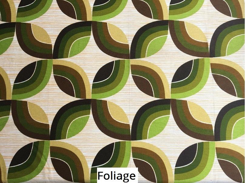 tissu vintage foliage