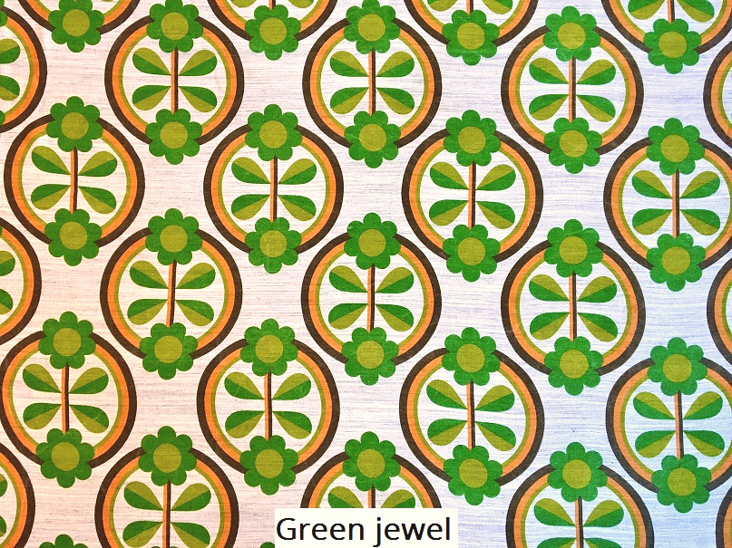 tissu vintage green-jewel