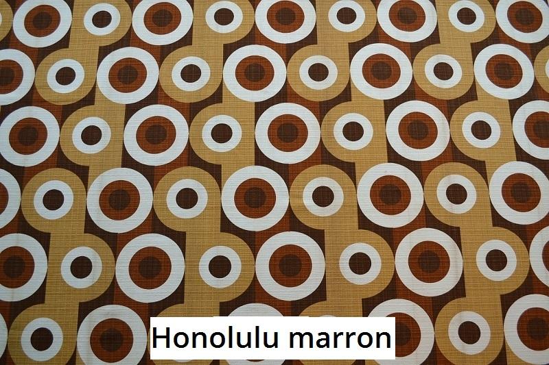 tissu vintage honolulu-marron