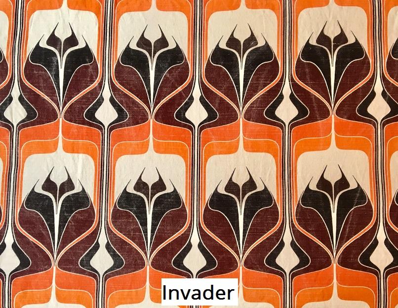 tissu vintage invader