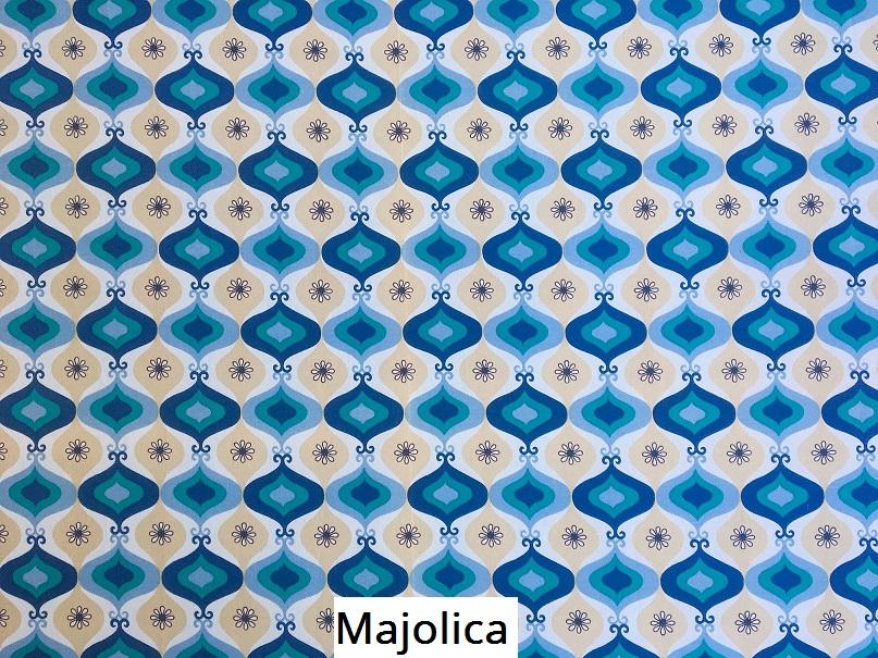 tissu vintage majolica