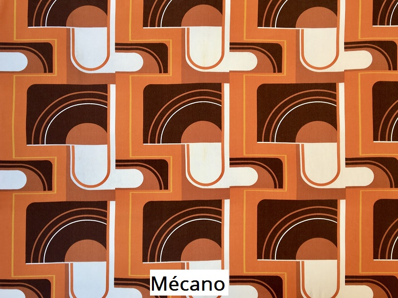 tissu vintage mecano