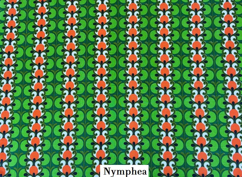 tissu vintage nymphea