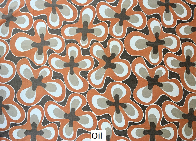 tissu vintage oil